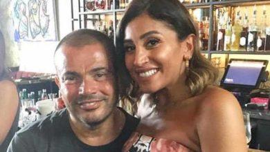 """صورة بعد أثارتهم للجدل..عمرو دياب و دينا الشربيني بتفاصيل حب جديدة في """"أماكن السهر"""""""