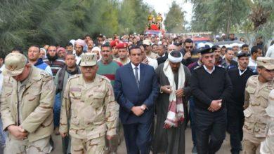Photo of محافظ البحيرة يتقدم جنازة الشهيد جمعة بسيوني ابن حوش عيسى