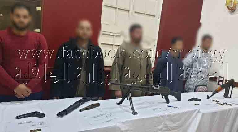 Photo of ضبط 6 قطع أسلحة نارية وتنفيذ 75 حكم قضائي فى حملة بمنفلوط