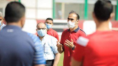 صورة سيد عبدالحفيظ يجتمع بموظفي وعمال فريق الكرة بالأهلي