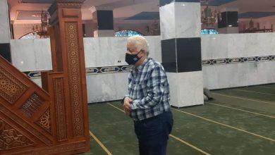 Photo of مرتضي منصور يتفقد مسجد طبيب الغلابة محمد مشالي