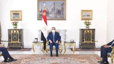 صورة السيسي يؤكد موقف مصر الثابت من دعم مسار الحل السياسي للقضية الليبية