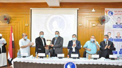 صورة رئيس جامعة كفر الشيخ يشهد حفل استقبال الطلاب الجدد بكلية العلاج الطبيعي