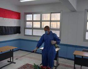 صورة تطهير وتعقيم لجان ومقار انتخابات النواب في البحيرة