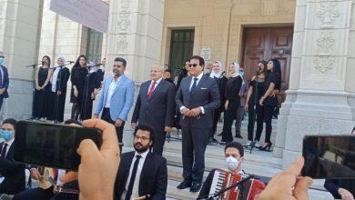 صورة وزير التعليم العالي يشهد انطلاق العام الدراسي بجامعة القاهرة