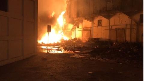 حريق ميناء الإسكندرية