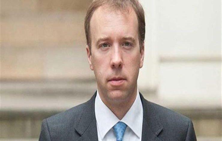 وزير شؤون الصحة البريطاني مات هانكوك