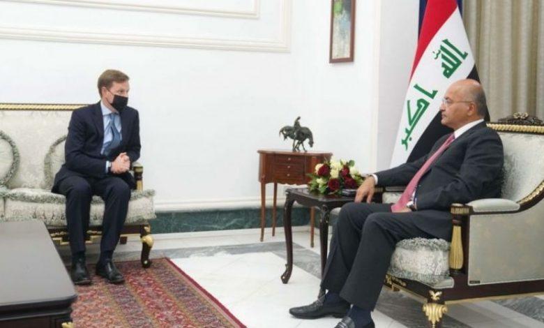 الرئيس العراقي: يشدد علي ضرورة تعزيز سلطة الدولة واستئصال الإرهاب