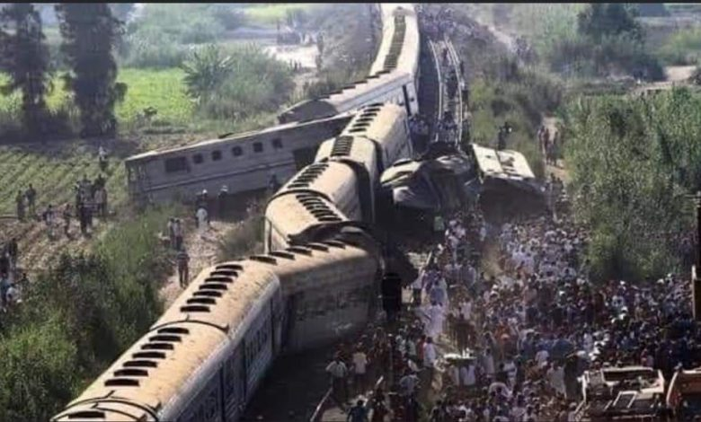 آخر اخبار حادث قطار سوهاج وعدد الضحايا النهائي