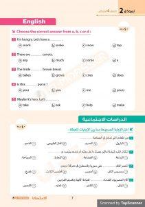 نموذج استرشادي لطلاب الصف الرابع الابتدائي لغات