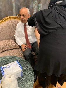 اعضاء مجلس النواب يتوافدون علي مقر التطعيم ضد كورنا