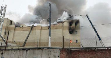 اندلاع حريق هائل في مصنع تاريخي في سان بطرسبرغ في روسيا