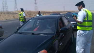سحب 6581 رخصة سيارة بسبب عدم تركيب الملصق الإلكترونى