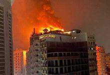 تفاصيل حريق فندق طنطا الهائل